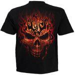 Black 'Skull Blast' Kids Short Sleeves T-Shirt