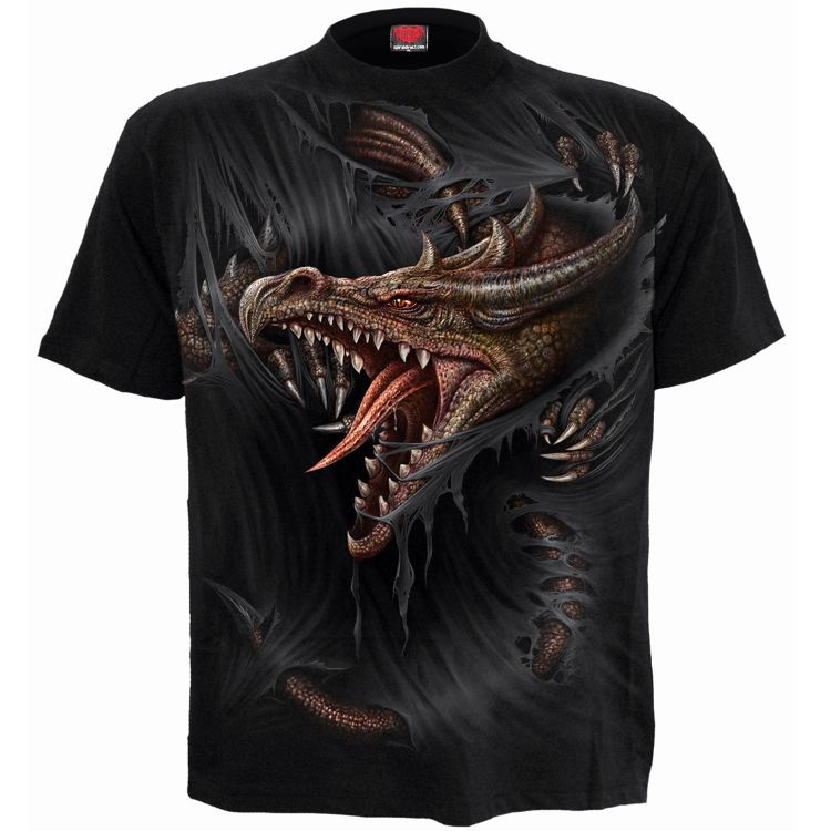Black 'Breaking Out' Kids Short Sleeves T-Shirt