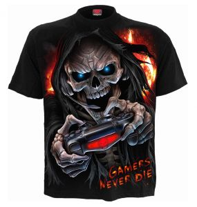 T-Shirt Manches Courtes pour Enfants 'Respawn' Noir