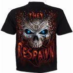 Black 'Respawn' Kids Short Sleeves T-Shirt