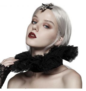Black Lace 'Victoria' Neck Collar