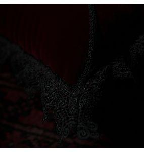 Dark Burgundy 'Velvet Gothic' Decorative Pillowcase