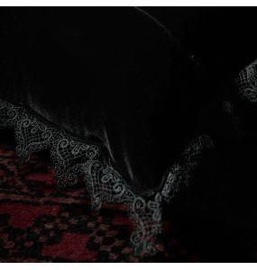 Black 'Velvet Gothic' Decorative Pillowcase