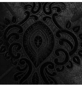 Taie d'Oreiller Décorative 'Gothic Cozy' Noire