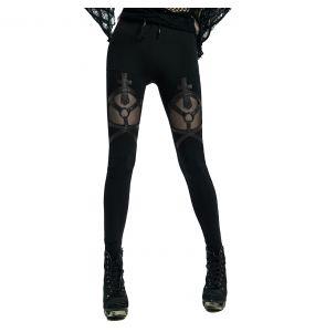 Leggings 'Dark Doll' Noir