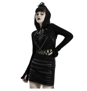 Veste Boléro 'Dark Doll' Noire