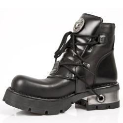 Black Nomada and Itali Leather New Rock Metallic Ankle Boots