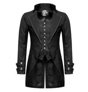 Long Jacket 'Black Cardinal' in Brocade