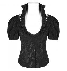 Black 'Le Fleur Noire' Gothic Blouse