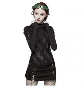 Black 'Gothic Trooper' Mini Skirt