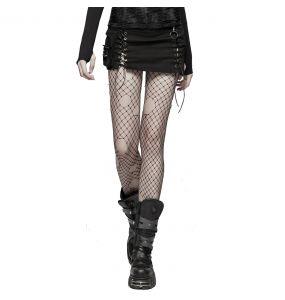Mini Jupe 'Gothic Trooper' Noire