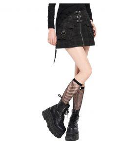 Black 'Elsinore' Mini-Skirt
