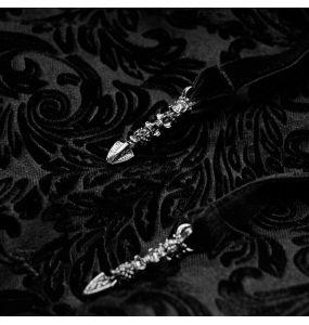 Black 'Ophelia' Velvet Blouse