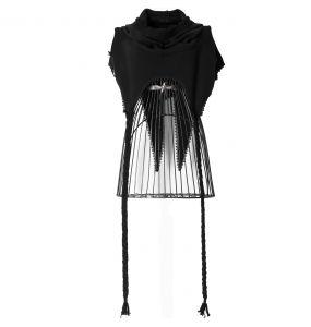 Black 'Hellebore' Hooded Scarf