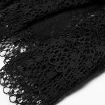 Black 'Eulalie' Steampunk Lace Gloves