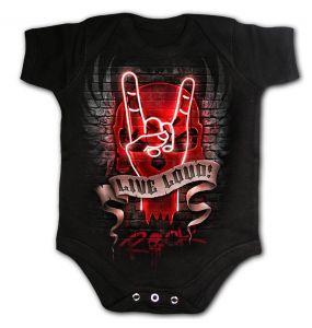 Body pour Bébé 'Live Loud' Noir