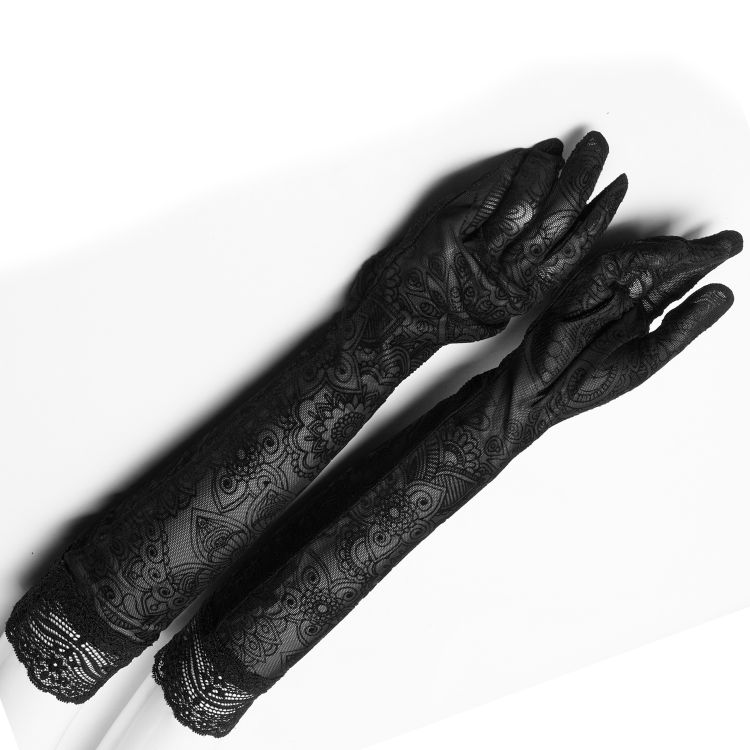 Longs Gants 'Independant' Noirs