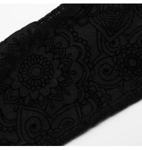 Black 'Independant' Long Gloves