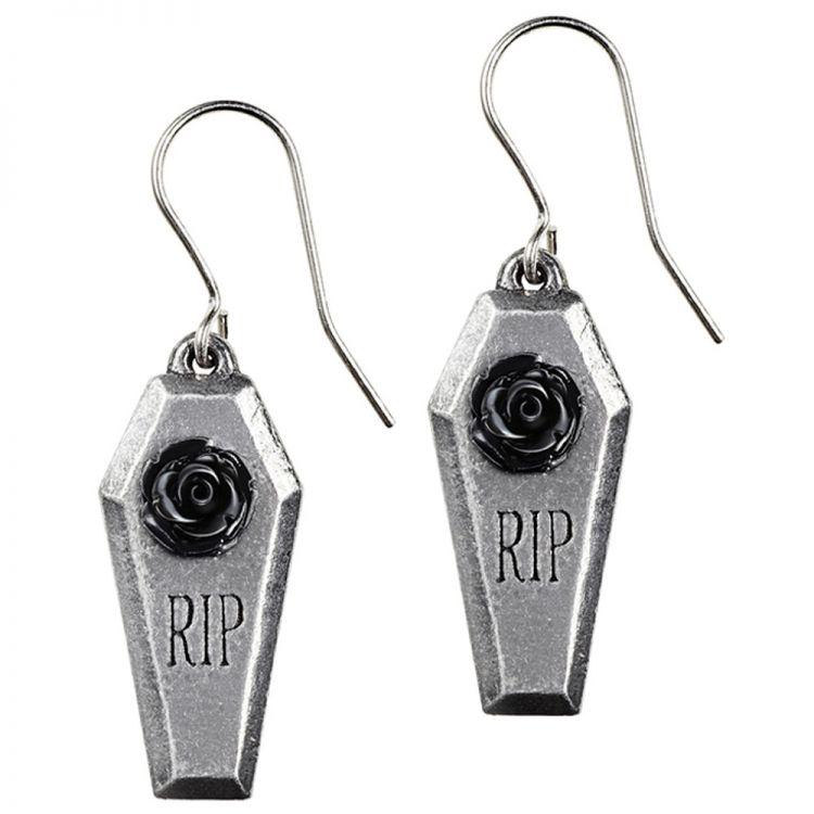 Boucles d'Oreilles 'RIP Rose'