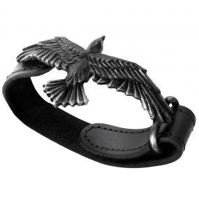 'Black Consort' Leather Wrist Strap