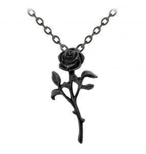 Pendentif 'The Romance of The Black Rose'