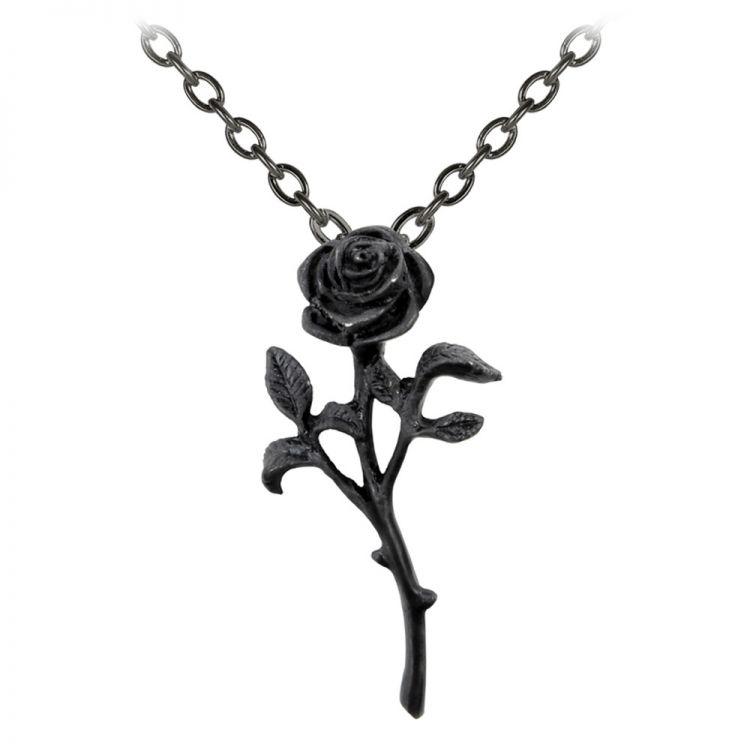 The Romance of The Black Rose Pendant