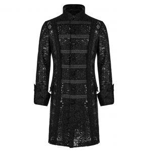 Black Lace 'Illuminati' Mid-Long Jacket