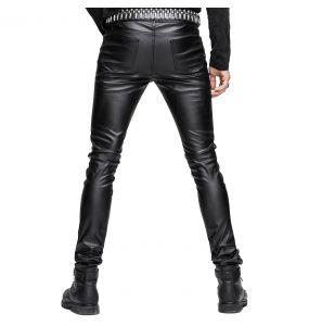 Black Faux Leather 'Hunter' Pants