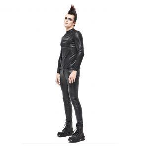 Pantalon 'Hunter' en Simili Cuir Noir