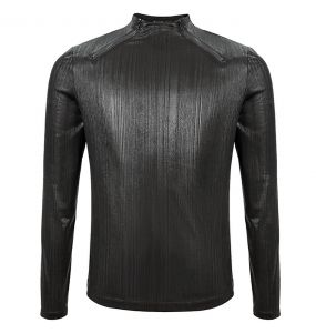 Bright Black 'Cyber Punk' Long Sleeve T-Shirt