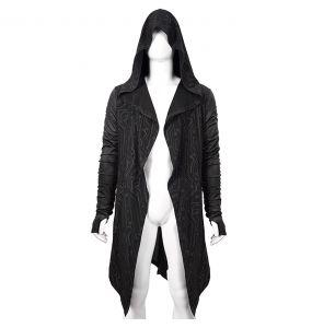 Black 'Cyber Game' Hooded Jacket