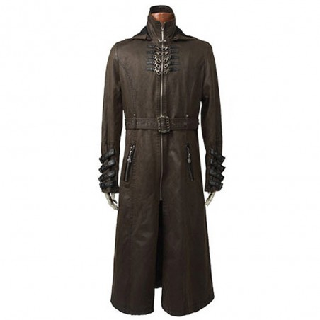 Manteau Steampunk et Post Apocalyptique 'Wasteland' Marron