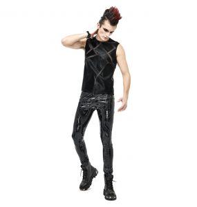 Pantalon 'Cyber Game' Simili Cuir Glossy Noir