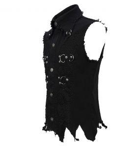 Gilet 'Distressed Heavy Metal' Noir