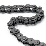 Black 'Motorcycle Chain' Leather Belt