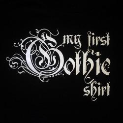 T-Shirt Bébé 'My First Gothic Shirt'