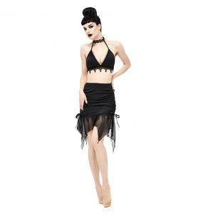 Black 'Narcissa' Bikini with Lace Choker