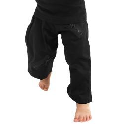 'Black Zip' Kids Pants