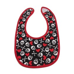 'Hearts and Skulls' Bib