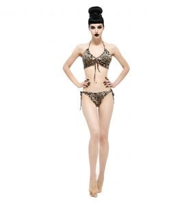 Beige Leopard Bikini