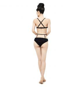 Black and Red 'Sexy Velvet' Bikini