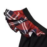 Black and Red Tartan 'Scottish' Bikini Bottom