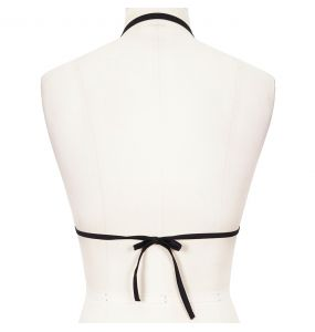 Black 'Scottish' Bikini Top