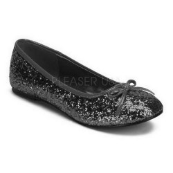 Black Glitter Children Ballerinas