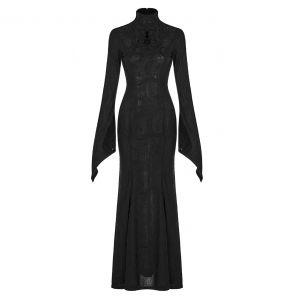 Longue Robe 'Mina' Noire