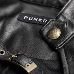BlackVegan Leather 'Niobium' Mini Dress