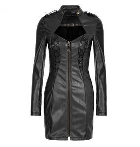 Robe 'Niobium' en Simili Cuir Noir