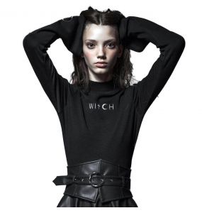 Black Long Sleeves 'Witch' Top