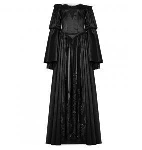 Black 'Ophelia' Long Dress