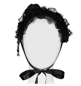 Bandeau Gothic Lolita 'Black Fairy' Noir